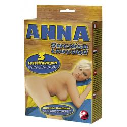 Nafukovací panna Švédka Anna (klečící)