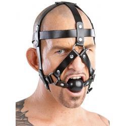 Kožený postroj na hlavu ZADO s roubíkem