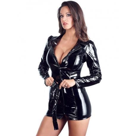 Lakovaný kabát - šaty