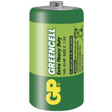 Baterie C GP Greencell (zinkochloridová)