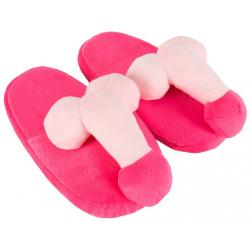 Dámské plyšové papuče s penisem
