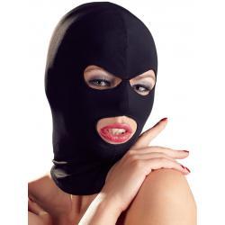 Maska s otvory pro oči a ústa (černá)