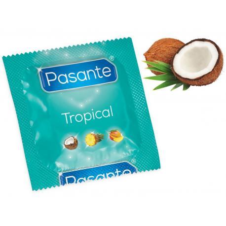 Kondom Pasante Tropical Coconut, kokos