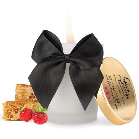 Masážní svíčka Melt My Heart - s chutí a vůní lesních jahod a medu