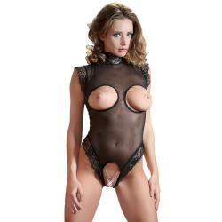 Body s otvory na prsa a otevřeným rozkrokem
