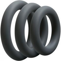 Sada tlustých erekčních kroužků OptiMALE Thick - 3 ks