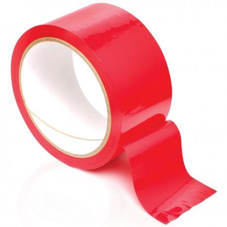 Červená páska na bondage Pleasure Tape