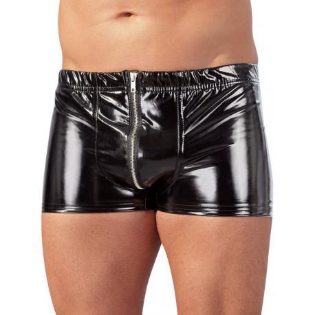 Lakované boxerky se zipem - Black Level