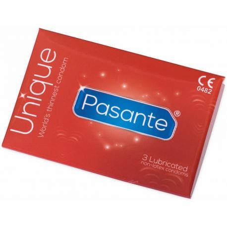 Extratenké kondomy bez latexu Pasante Unique - 3 ks