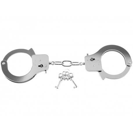 Kovová pouta Designer Cuffs (stříbrná) - Fetish Fantasy