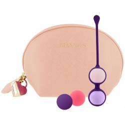 Vaginální činka s vyměnitelnými kuličkami Pussy Playballs - s taštičkou