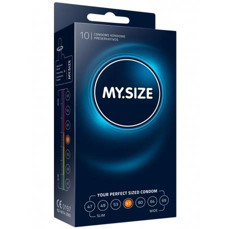Kondomy MY.SIZE 57 mm - 10 ks