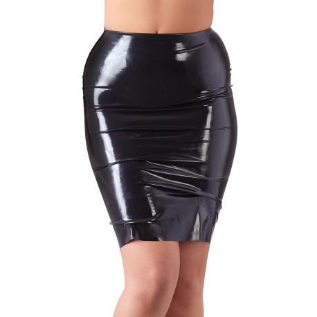 Latexová sukně nad kolena LateX