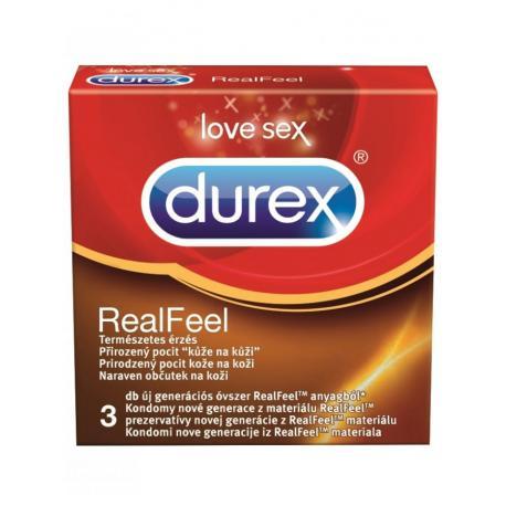 Kondomy bez latexu Durex Real Feel (3 ks)