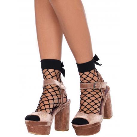 Síťované ponožky s mašličkou - Leg Avenue