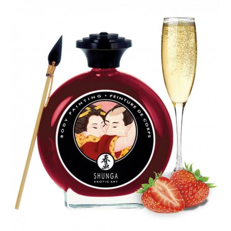 Slíbatelný bodypainting Sparkling Strawberry Wine - Shunga