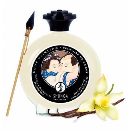 Slíbatelný bodypainting Vanilla & Chocolate Temptation - Shunga