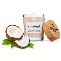 Afrodiziakální masážní svíčka MAGNETIFICO - Enjoy it! (coconut)