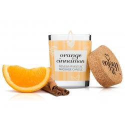 Afrodiziakální masážní svíčka MAGNETIFICO - Enjoy it! (orange and cinnamon)