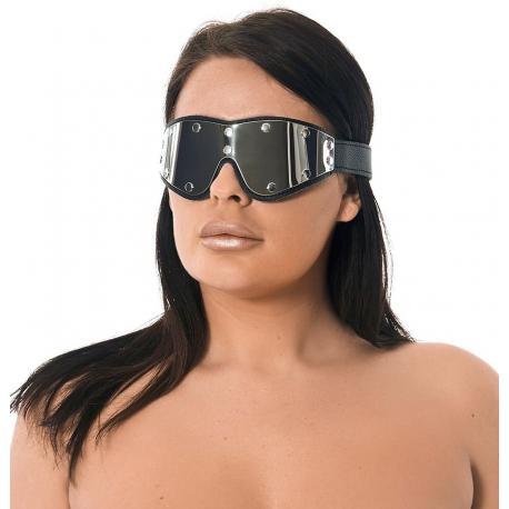 Okovaná kožená maska na oči - Rimba
