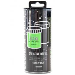 Náhradní silikon pro Clone-A-Willy - zelený (svítící ve tmě)