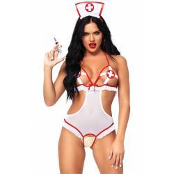 Roleplay kostým Zdravotní sestra (Naughty Nurse) - Leg Avenue