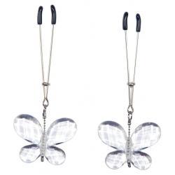 Svorky na bradavky s ozdobnými motýlky (2 ks) - Bad Kitty