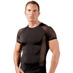 Pánské tričko s průsvitnými vsadkami - Svenjoyment