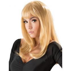 Dlouhá blond paruka s ofinou