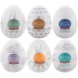 Výhodné balení masturbátorů pro muže TENGA Egg Stronger - 6 ks
