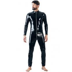 Lakovaný pánský overal s dlouhými rukávy i nohavicemi (Black Level)